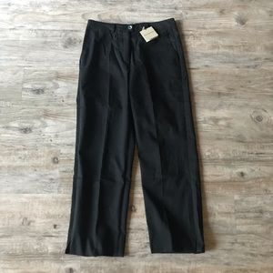 BURBERRY | NEW BLACK CAPRI ANKLE LENGTH GOLF PANT